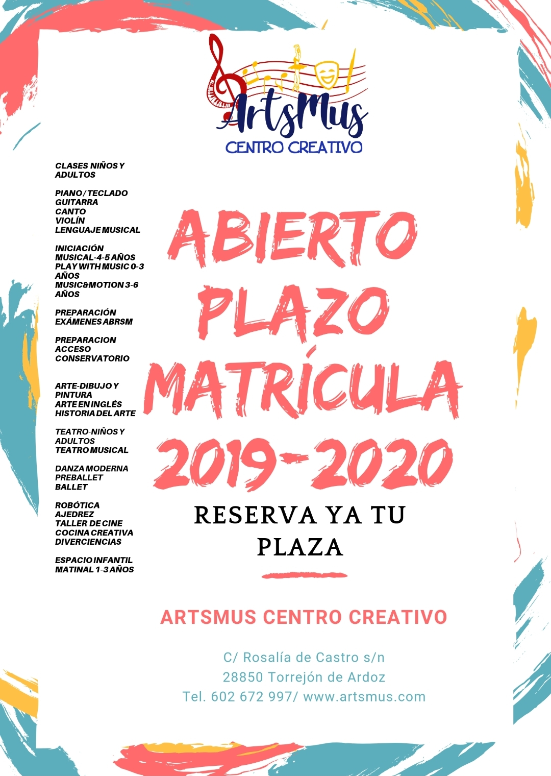 ArtsMus-Curso-2019-2020-Plazo-de-Matrícula